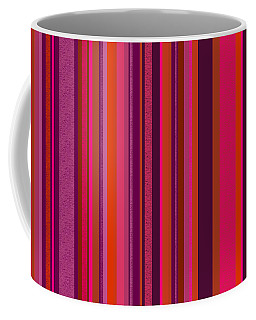 Hot Pink And Orange Stripes - Two Coffee Mug