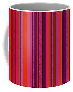 Coffee Mug featuring the digital art Hot Pink And Orange Stripes by Val Arie