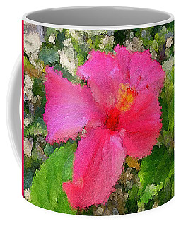Hot Pink Hibiscus Coffee Mug