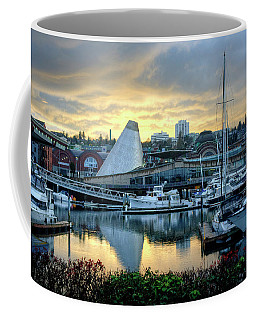 Coffee Mug featuring the photograph Hot Shop Cone Cloudy Twilight by Chris Anderson
