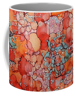 Coffee Mug featuring the painting Hot Spots Ink #21 by Sarajane Helm