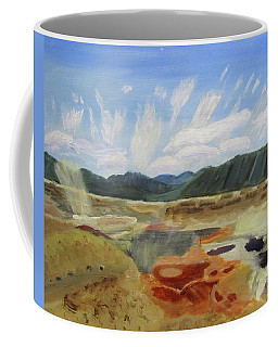 Coffee Mug featuring the painting Hot Springs by Linda Feinberg