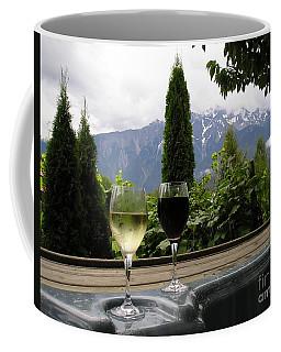 Hot Tub And Wine Coffee Mug
