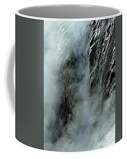 Hot Water Into Cold Makes Steam Coffee Mug