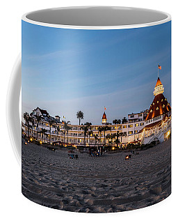Hotel Del At Twilight Coffee Mug