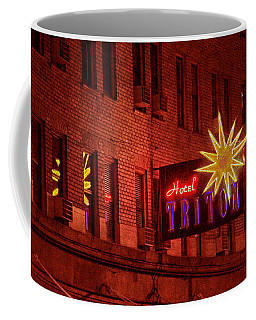 Hotel Triton Neon Sign Coffee Mug