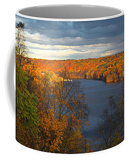 Coffee Mug featuring the photograph Housatonic In Autumn by Karol Livote