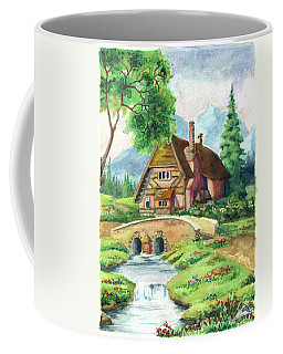 House Along The River Coffee Mug