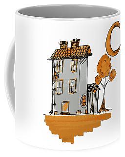 House And Moon Coffee Mug