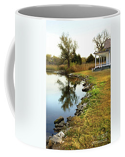 Coffee Mug featuring the photograph House By The Edge Of The Lake by Jill Battaglia