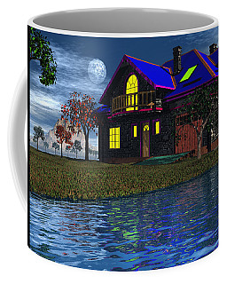 House By The River  Coffee Mug by Mark Blauhoefer