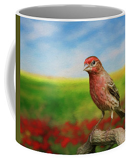 Coffee Mug featuring the photograph House Finch by Steven Richardson