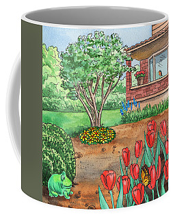 House In The Country With A Garden Coffee Mug