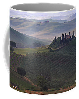House In Tuscany In The Morning Fog Coffee Mug