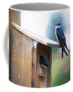 Coffee Mug featuring the photograph House Of Bluebirds by James BO Insogna