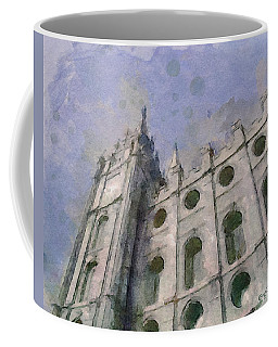 Coffee Mug featuring the painting House Of Faith by Greg Collins