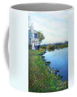 Coffee Mug featuring the photograph House On A Lake by Jill Battaglia
