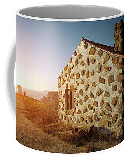 Coffee Mug featuring the photograph House On The Cliff by Carlos Caetano