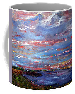 House On The Point Sunset Coffee Mug