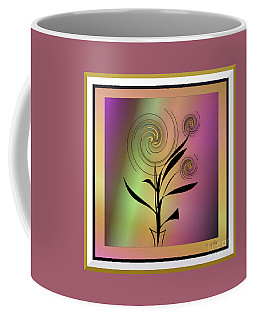 Coffee Mug featuring the digital art House Plant #6 by Iris Gelbart