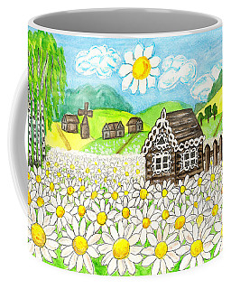 House With Camomiles, Painting Coffee Mug