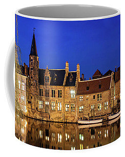 Houses By A Canal - Bruges, Belgium Coffee Mug