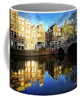 Houses Of Amsterdam  Coffee Mug by Anastasy Yarmolovich