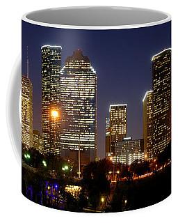 Houston Skyline At Night Coffee Mug