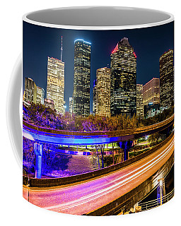 Coffee Mug featuring the photograph Houston Skyline From I-45 by Andy Crawford