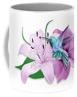 Coffee Mug featuring the mixed media Hovering by Marvin Blaine