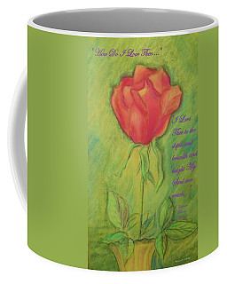 Coffee Mug featuring the drawing How Do I Love Thee ? by Denise Fulmer