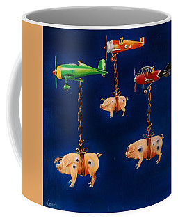 How Pigs Learn To Fly Coffee Mug by Jean Cormier