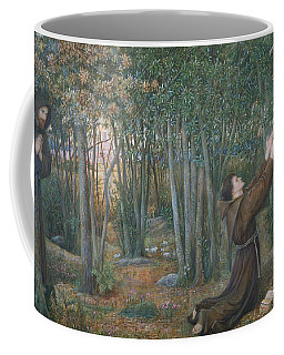 How The Virgin Came To Brother Conrad In Offia And Laid Her Son In His Arms Coffee Mug