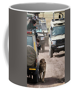 Coffee Mug featuring the photograph How To Find A Lion In The Serengeti by Mary Lee Dereske