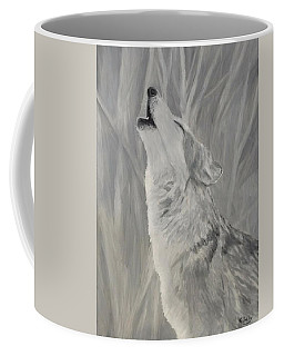 Coffee Mug featuring the painting Howling Wolf by Kevin Daly