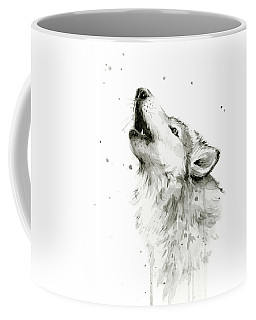 Howling Wolf Watercolor Coffee Mug