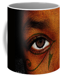 Coffee Mug featuring the digital art Hru's Eye by Iowan Stone-Flowers