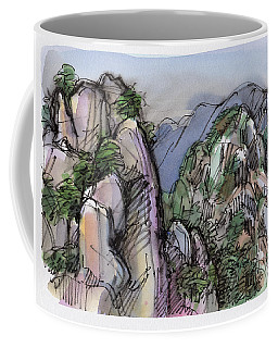 Coffee Mug featuring the painting Huangshan, China by Judith Kunzle