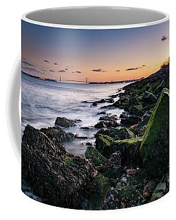 Hudson River And Verrazano-narrows Bridge Coffee Mug