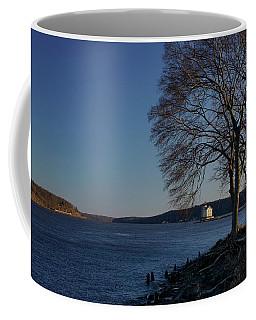 Hudson River With Lighthouse Coffee Mug