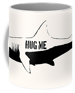 Hug Me Shark - Black  Coffee Mug