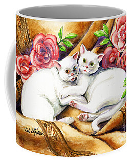 Hugging Cats Coffee Mug