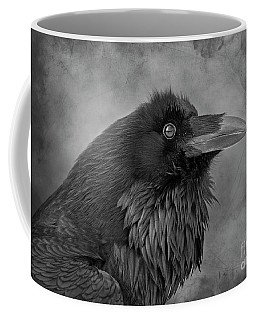 Coffee Mug featuring the photograph Huginn... by Nina Stavlund