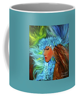 Coffee Mug featuring the painting Hula Dancer 11 by Jenny Lee