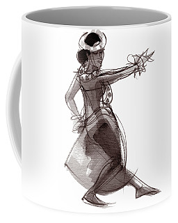 Coffee Mug featuring the painting Hula Dancer Keala by Judith Kunzle