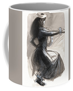 Coffee Mug featuring the painting Kamehameha Hula Dancer by Judith Kunzle