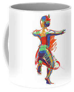 Coffee Mug featuring the painting Hula Wahine Ikaika by Judith Kunzle