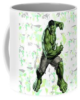 Coffee Mug featuring the mixed media Hulk Splash Super Hero Series by Movie Poster Prints