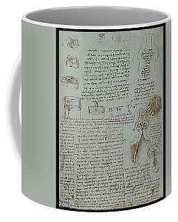 Coffee Mug featuring the painting Human Study Notes by James Christopher Hill