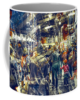 Coffee Mug featuring the photograph Human Traffic by Wayne Sherriff